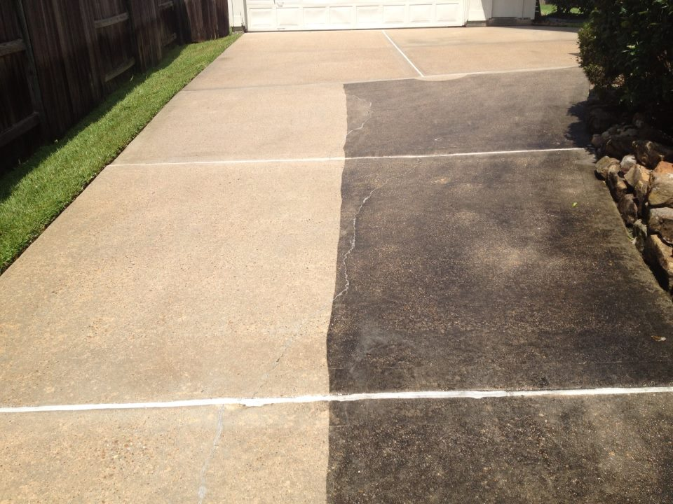 Pressure washing for What is the best way to clean concrete